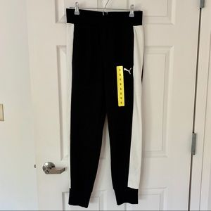New PUMA Black and White Women's Joggers Pants S